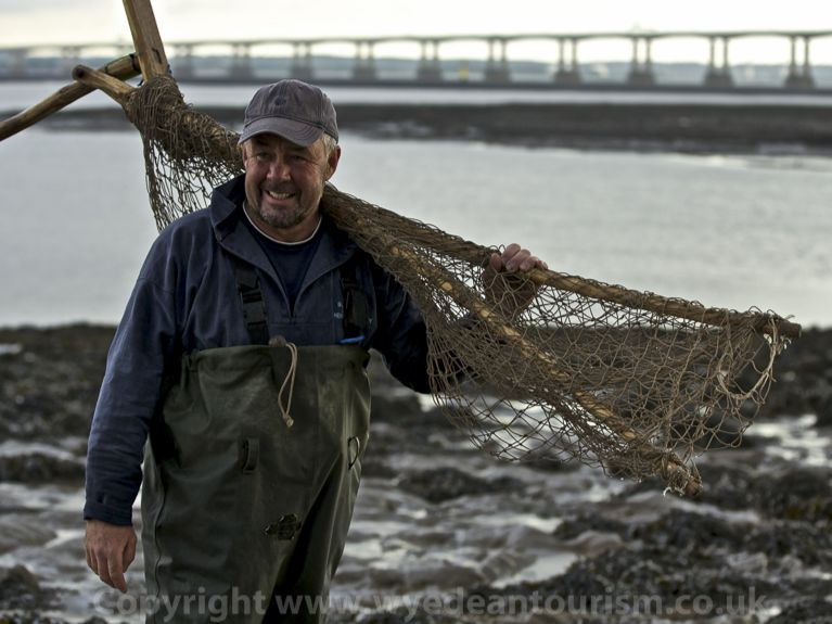 fisherman at Black Rock Severn Estuary